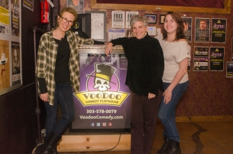 VooDoo Comedy Playhouse, after the first public showing of Safety. With director Lee Massaro and Hailey Barr