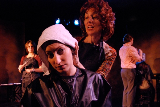 With Diana Buirski in Pointers. Playwright Theatre, 2008