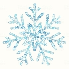 Snowflake on Winter Snow Vector Pattern Background